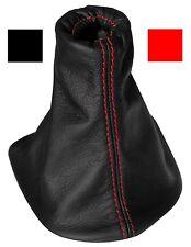 Soufflet de levier vitesse noir 100% CUIR coutures rouges pour PEUGEOT 307