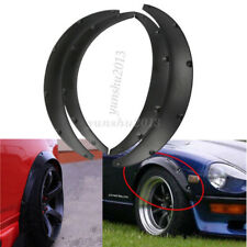 4Pcs Black Car Fender Flare Wheel Eyebrow Protector Arch Trim For Honda BMW