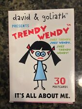 David & Goliath Trendy Wendy Humorous Postcard Set It's All About Me Girls F1