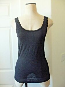 Cosabella TULIP Black Floral All-Lace Stretch Nylon Lined Scoop Neck Camisole  S