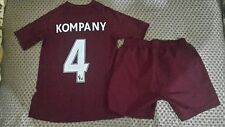 Manchester City football kit  size MB  no 4 KOMPANY Umbro