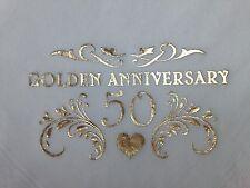15 X GOLDEN 50TH WEDDING ANNIVERSARY QUALITY WHITE 3PLY DINNER NAPKINS