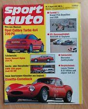 Sport Auto 4/1991 - Renault Alpine - Ginetta - Toyota Celica Turbo - Lancia 8.32