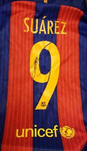 Barcelona Signed Luis Suarez Home shirt See Proof autograph Uruguay