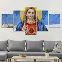 Great God Painting Christ Jesus Poster Wall Art Home Decor 5 pieces Canvas Print