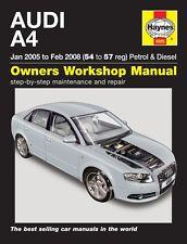 Haynes Owners Workshop Manual Audi A4 B7 Petrol Diesel (05-08) SERVICE REPAIR