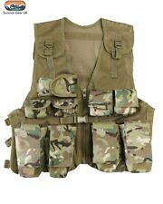 Kids BTP Assault Vest Fancy Dress Childrens Military Army Camo Combat Soldier