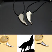 Punk Stainless Steel Mens Cool Wolf Tooth Shape Pendant Necklace Jewelry Gift