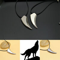 Fashion Men's Jewelry 316L Stainless Steel Titanium Wolf Tooth Pendant Necklace