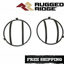 Rugged Ridge Black Headlight  Euro Guard Kit Fits 2007-2018 Jeep Wrangler JK JKU