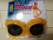 d52f326b029d Orange Fur Goggles Aviator Goggles with Orange Faux Fur Trim