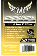 Mayday Games Premuim Game Yellow label Card Sleeves(41mm X 63mm) (50) 7075