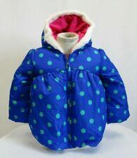*Nwt* Gymboree Girls Blue & Green Polka Dot Hooded Winter Jacket Size 2/3