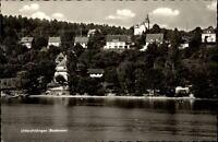 Unteruhldingen Bodensee alte Postkarte ~1950/60 Teilansicht vom See aus gesehen