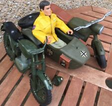ACTION MAN COLLECTION MOTORCYCLE AND SIDECAR MOTORCYCLE AND DOLL RARE VINTAGE