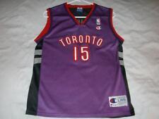 Vince Carter 15 Toronto Raptors NBA Champion Purple Boy's Large 14-16 Used