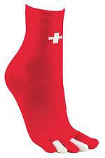 """2 oder 5 Paar Zehensocken """"Schweiz""""  Zehenstrumpf Zehen Socken Damen Herren NEU"""
