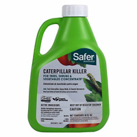 Safer CATERPILLAR KILLER II w/ BT 16oz Concentrate Garden Pests Insect Control