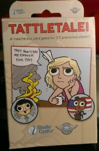 Studio Cypher Game Salute Tattle Tale! Board Game *NEW* **FAST SHIP**