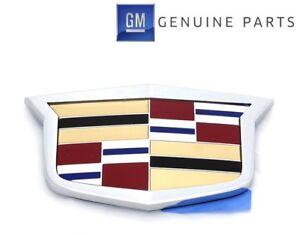 OEM NEW Front Grille Emblem Crest Chrome 02-11 Cadillac Escalade DTS 25759438