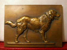 RARE FRENCH ART DECO PLAQUE 64mm by VICTOR PETER DOG