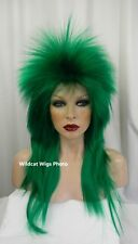 Super HOT Extra Long Rocker Wig .. Emerald Green .. UNISEX WIG!   WIZARD OF OZ