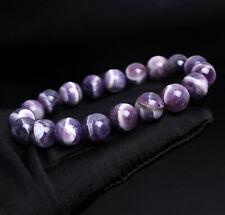Quartz Crystal Beads Bracelet 10.6mm Natural Brazil Amethyst
