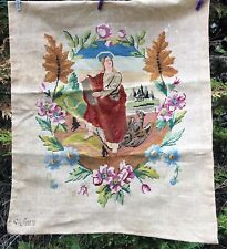 Tapisseries canevas ancien, fait main, St Jean, 56 cm x 66 cm