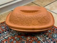 ROMERTOPF # 111 Terra Cotta Clay Baker Baking Roaster RECO Bay Keramik Lid USA