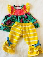 Matilda Jane Doll Clothes Cozy Town All Dressed Up Holiday Magic Big Ruffle 18""