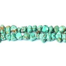 Magnesite Smooth Nugget Beads 8x12mm Turquoise 60+ Pcs Dyed  Handcut Gemstones
