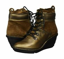 FLY LONDON SICA678FLY LEATHER PLATFORM WEDGE ANKLE BOOTS UK 6 EUR 39 RRP £115