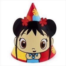 NI HAO KAI-LAN CONE HATS (8) ~ Birthday Party Supplies Favors Nick Jr Paper Red