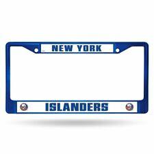 New York Islanders Nhl Blue Painted Chrome Metal License Plate Frame