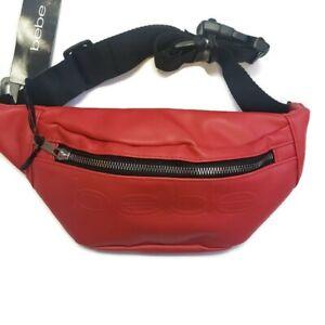 Bebe Hip Sack Fanny Pack Sling Bag Adjustable Red Unisex New