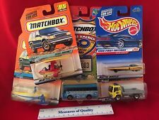 LOT 5 MIP 1:64 Die Cast car New Jersey state Matchbox Hotwheels Solar Mattel e1
