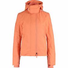 SUPERDRY Women's Prism Tech Hood Zip Windcheater Jacket, Coral Orange, L / UK 14
