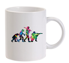 Evolution of Paintball Funny Personalised Mug Paintballing Mens Airsoft Gift