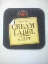 Vintage WATNEYS / CREAM LABEL STOUT  -  Cat No'217  Beermat / Coaster