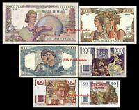 2x 50,100,500,1000,5000,10000 Fr. - Edition 1945 - 1957 - Reproduction - 07