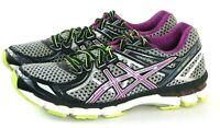 Asics GT 2000 2 $100 Women's Running Shoes Size 9.5 Black Gray Fuchsia