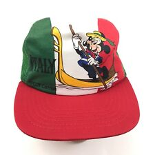 VINTAGE Mickey Mouse Trucker Hat ITALY Epcot Center Disney 1982 UNION MADE USA