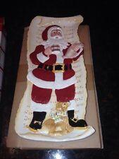 2009 Fitz & Floyd Dear Santa Elongated Tray (53/223) New In Box