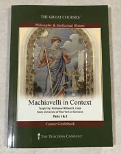 Great Courses Machiavelli In Context PBK Guidebook Parts 1 And 2 By William Cook