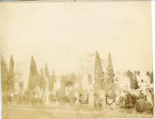 Italie, Cimetière de Milan, ca.1898 vintage citrate print Vintage citrate print,