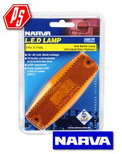 NARVA LED 9-33V Side Marker or External Cabin Marker Lamp Amber 91700BL