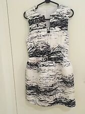 Cameo The Outcome Summer Cocktail Party Evening Dress in Marble Print size S