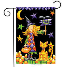 "Boo Witch Halloween Garden Flag Primitive Holiday Briarwood Lane 12.5"" x 18"""