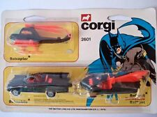 Vintage Corgi #2601 Batman Batmobile Batboat Batcopter Triple Pack VHTF