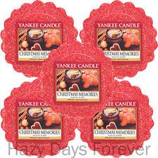 5 YANKEE CANDLE WAX TARTS MELTS Christmas Memories BUY 2+ SAVE 20% FESTIVE XMAS